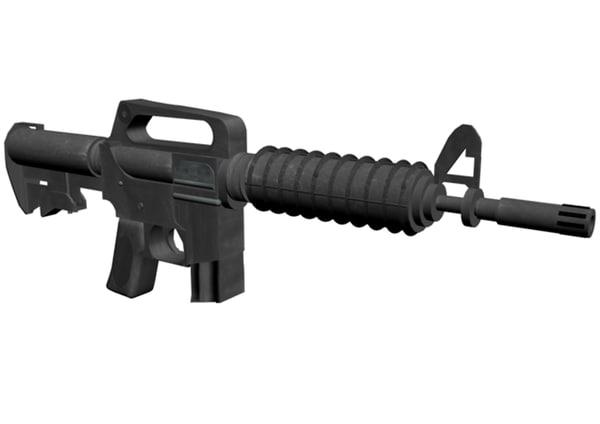 3d model colt commando