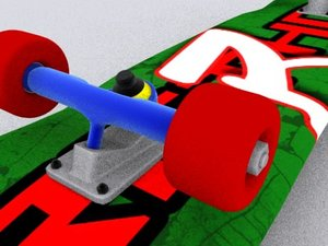 3d accurate skateboard real