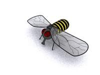 cartoony bee 3d model