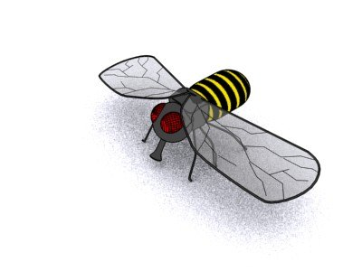 cartoony bee 3d model