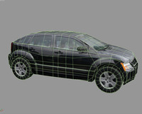 dodge caliber 2007 polys 3d model