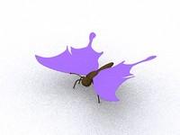 3d cartoony butterfly