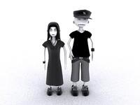 gothic characters alto cartoony 3d max