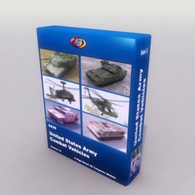 3d model of army m2 bradley