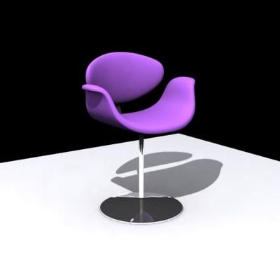 modern chair 3d 3ds