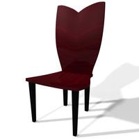 3d chair modern dining model