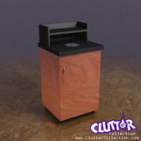 3d coffee shop garbage bin model