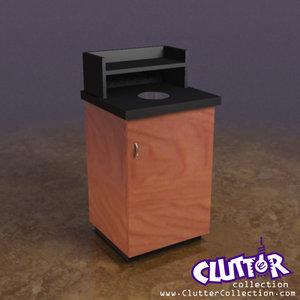 3d coffee shop garbage bin model