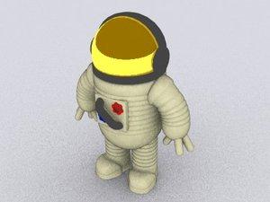 3d model cosmonaut man
