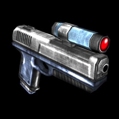 maya sci-fi pistol