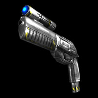 Low Poly Sci-Fi Revolver