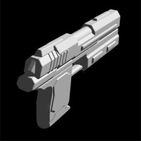 pistol weapon dxf free
