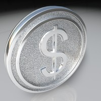 3d c4d dollar medal
