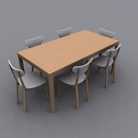 3ds dining set