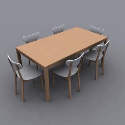 3ds dining set