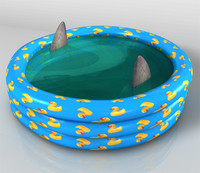 3d model paddling pool water swimming