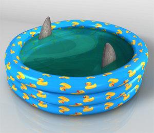 3d model paddling pool water swimming