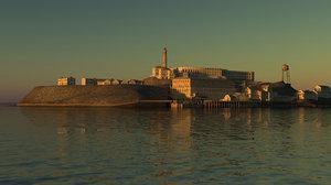 alcatraz island 3d model