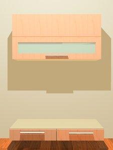 cabinet dresser storage 3d max