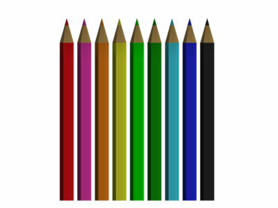 colouring pencils 3d 3ds