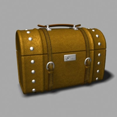 road suitcase case 3d max