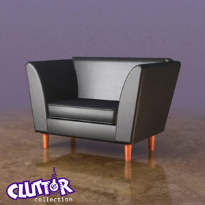 reading chair 3d model