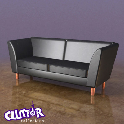 couch clutterfurniture clutter 3ds