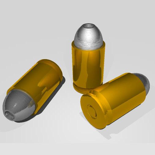 free obj model 9mm pistol bullet