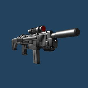 3ds smg gun