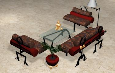 3d beautiful set sofas