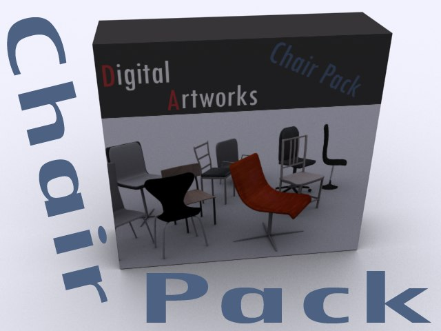 pack modern chairs max free