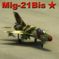 3d model mig-21 bis fishbed