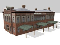 railway station konitz 3d model