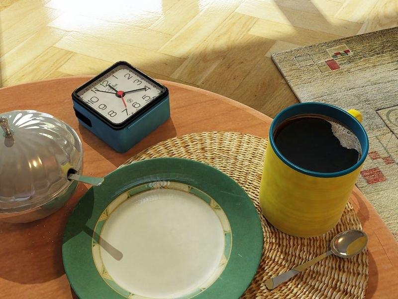 3d morning coffee breakfast model