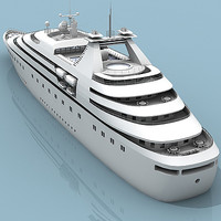 passenger cruise ship 3d model