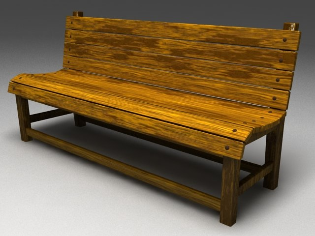 outdoor wooden bench max