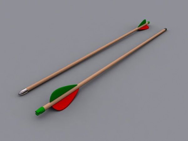 archery arrow 3d max