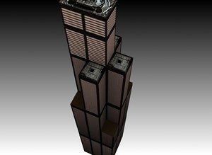building hancock center 3d model