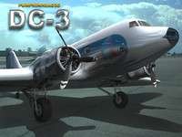 airplane dc3 transport 3d model