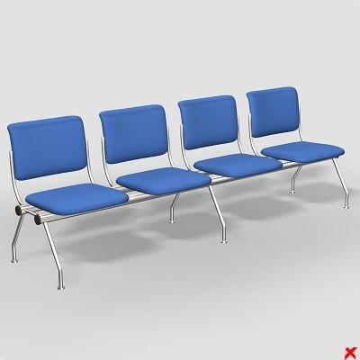 chair waiting 3d model
