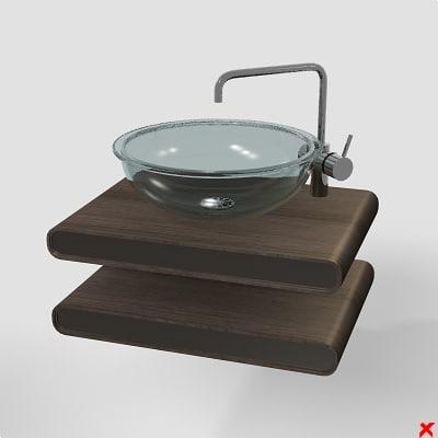 3d 3ds sink basin