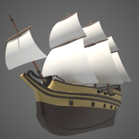 sailing vessel masts 3d model