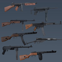 WWII SMG Weapons Pack Realtime