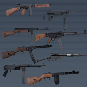 wwii smg weapons pack max