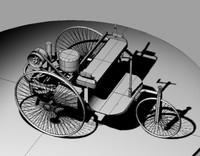 vintage car 3d model