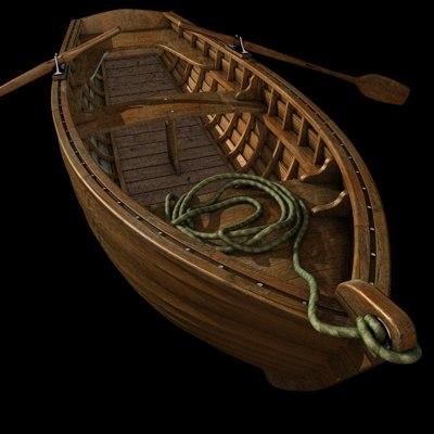 ruderboot boat 3d model