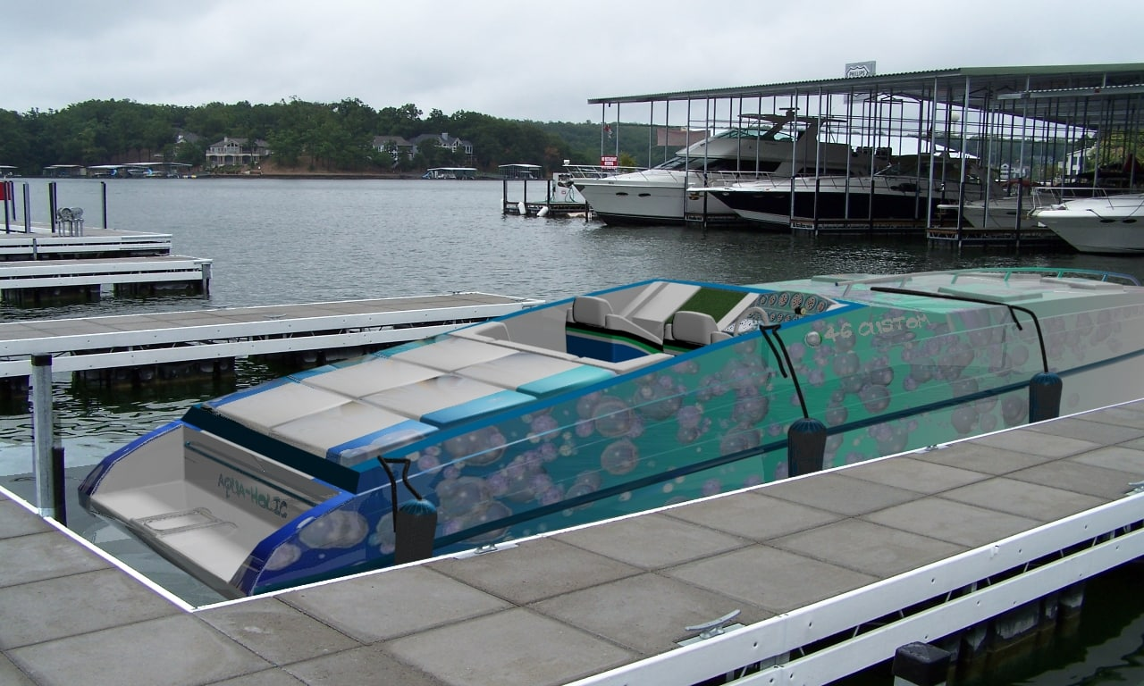 3d model 46 yacht speed