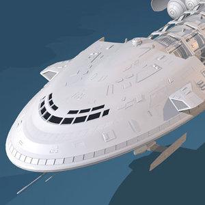 3dsmax spaceship space ship