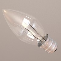 3d mini light bulb model