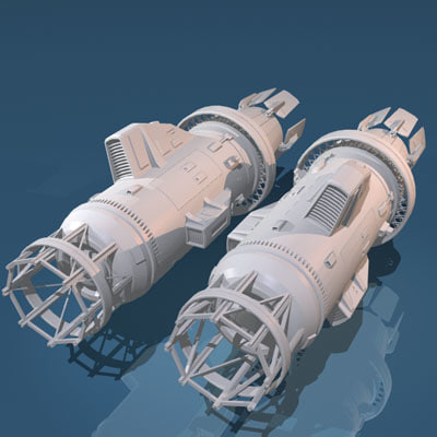 dxf spaceship engines
